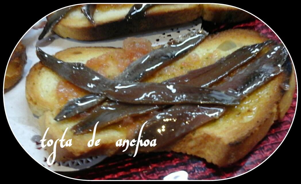 tosta de anchoa
